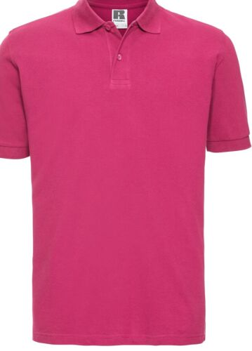 Russell Adult Classic Cotton Short Sleeve Top Mens Smart Plain Slim Fit Polo