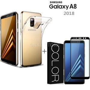 cover galaxy a8 2018 custodia pellicola