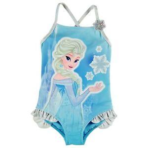 08d36608d La imagen se está cargando Disney-Frozen-Elsa-Banador-para-Nina-Azul-Banador -