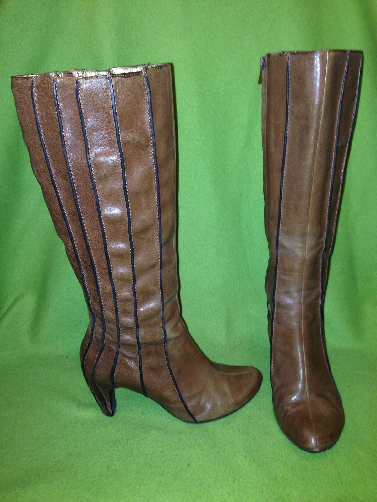 Brown Tsubo Ribbed Knee-High Boots 7.5