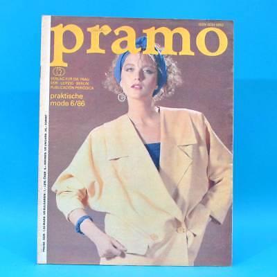 Ddr Pramo 6/1986 Praktische Mode Schnittmuster Einfachschnitte Stadtmode U Wasserdicht, StoßFest Und Antimagnetisch
