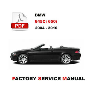 image is loading bmw-e63-e64-2004-2010-645ci-650i-service-