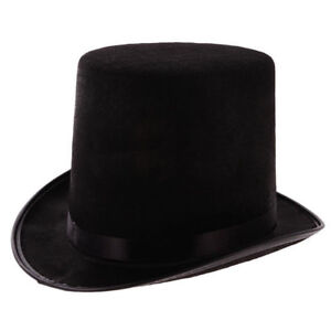 Tall-Black-Top-Hat-Victorian-Steampunk-Magician-Ringmaster-Costume