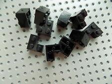 20x LEGO Black Modified Brick 2 x 2 CORNER Edge Frame Base #2357