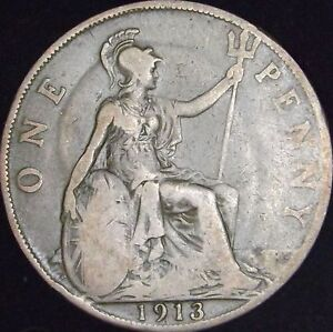 1913-VG-Great-Britain-Penny-KM-810