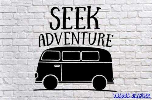 VW chercher aventure Vinyl Decal Sticker Euro JDM DUB VW T4 T5 T6 Beetle