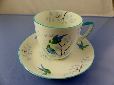 Saucer Trio Blue Birds Ye Olde English Grosvenor Cup