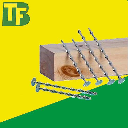 Pack of 100 Suretwist 195mm Big Twist Roofing Nails