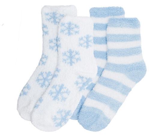 Ladies Foxbury 2 Pack Soft Slipper Socks With Grip  SK412
