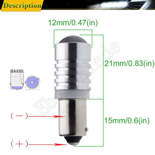 2PCS White 5W CREE BAX9S H6W 150° 433C 434 Car Auto LED Light Bulb Lamps 12V 24V