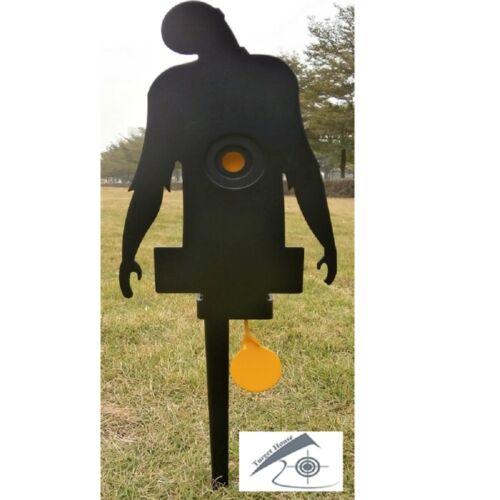 Knockdown field target self reset target for .177 and .22 air gun target 3mm