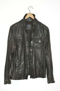 SAINTS Emery Leather shirt Jacket