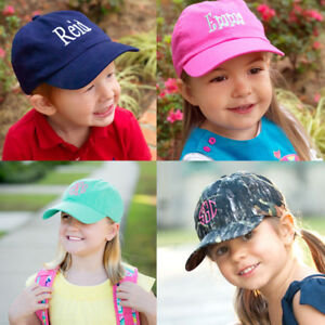076cd3d2d675a Image is loading PERSONALIZED-MONOGRAMMED-CHILDRENS-KIDS-BASEBALL-CAP-HAT- MINT-