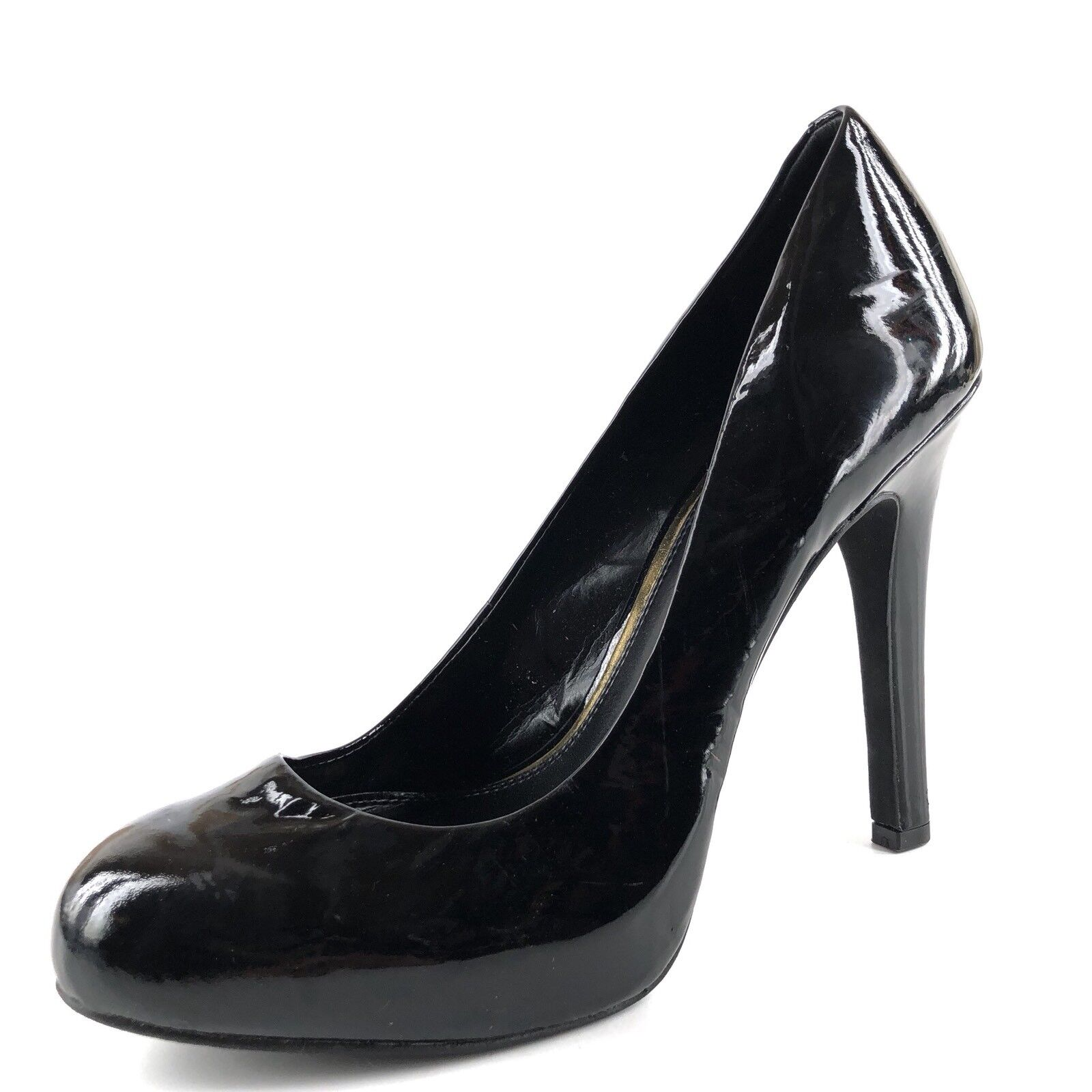 Jessica Simpson Abriana Black Leather Platform Casual Pumps Women's Size 9 M
