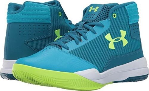 Kid/'s Under Armour GGS Jet 2017 Basketball Shoes NIB! Blue//Lime
