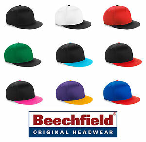 Cappello Beechfield Rapper Youth Snapback Cotone Twill Visiera Piatta Skateusa # MatéRiaux De Qualité SupéRieure