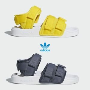 e384d70db1a Adidas Originals Adilette 2.0 Sandals Yellow Grey CQ2672 CQ2673 SZ 4 ...