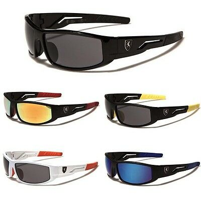 Khan Men Sport Wrap Around Sunglasses Cycling Baseball Running Ski Surf Sunnies