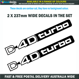 D4D-Turbo-Decals-237mm-Wide-for-Toyota-Prado-Diesel-Landcruiser-stickers-T011