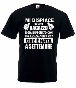 T-Shirt-Maglietta-J1627-Idea-Regalo-Compleanno-Fidanzato-nato-a-Settembre