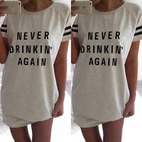 Women Casual Cotton Blouse Short Sleeve Shirt T-shirt  Dress Summer Blouse Top