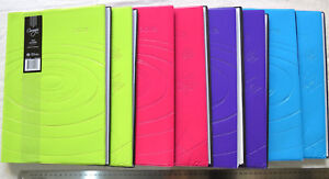 OLD Diary 2018 A4 Week View Lay Flat Spiral-bound Flex 8 bright colour combos
