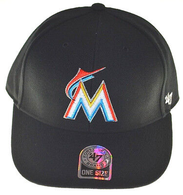 the latest d818e 1eb71 Miami Marlins MVP Adjustable Cap-black