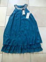 Kleid(Esprit)Gr.36 Blau 100% Seide NEU