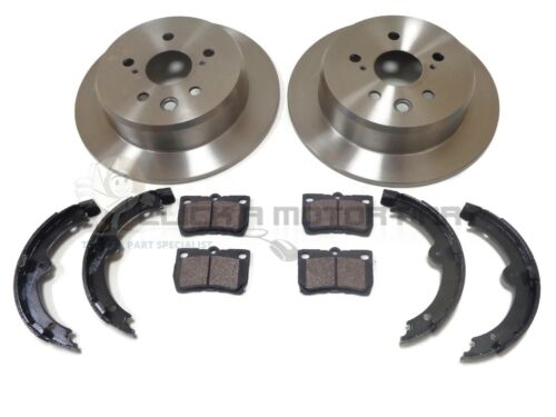 REAR 2 BRAKE DISCS /& PADS SHOES CHECK DISCS FOR LEXUS IS220 IS220d DIESEL 05-11
