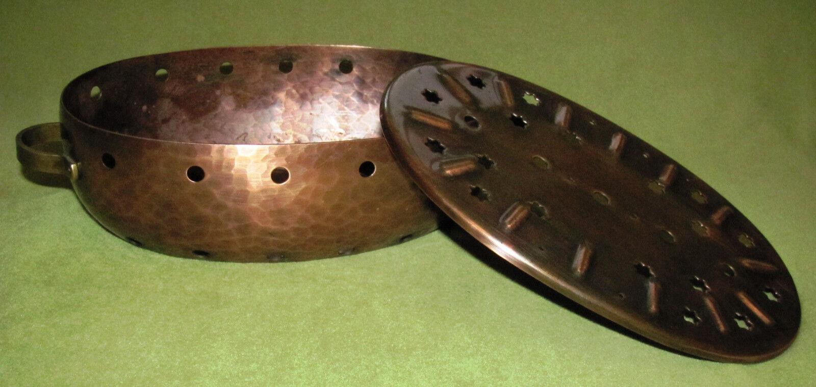 Kupfer Messing Stövchen Stövchen Stövchen 2 Flammig Hammerschlag Zint Handarbeit 185     | Das hochwertigste Material  2650a0
