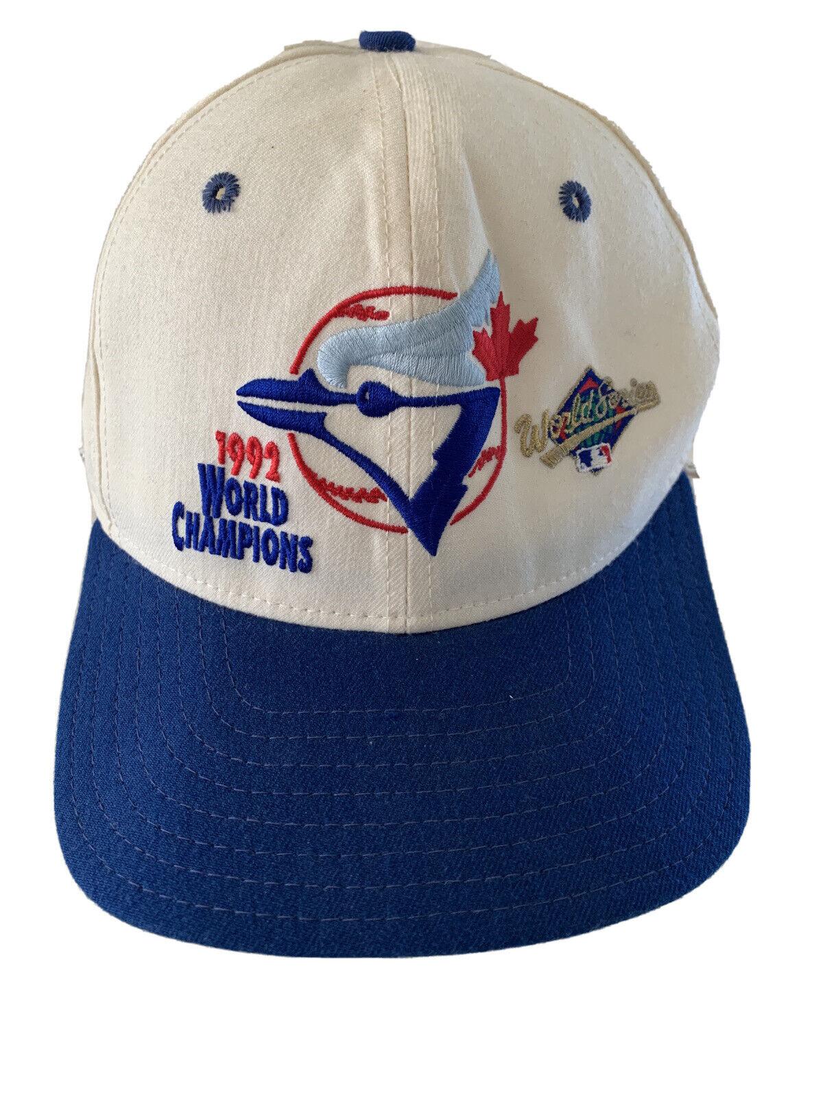 Toronto Blue Jays 1992 World Champions snapback hat M-L USA MADE