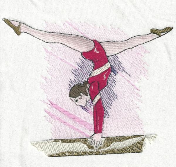 """personalized Embroidered Gymnast Bath/swimming Towel"" 100% Cotton"