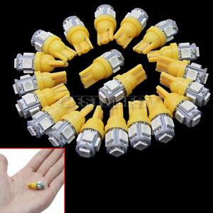 20-Pcs-Ampoule-T10-W5W-5-SMD-LED-Veilleuse-Lampe-Feux-Orange-Voiture-eclairage
