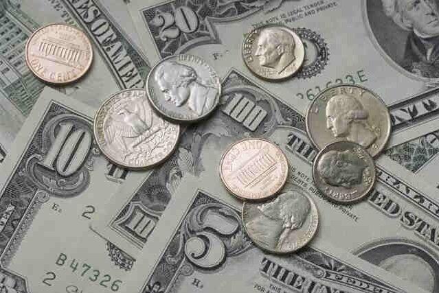 Money & Coins - Edible Cake Sugar Frosting Sheet Topper