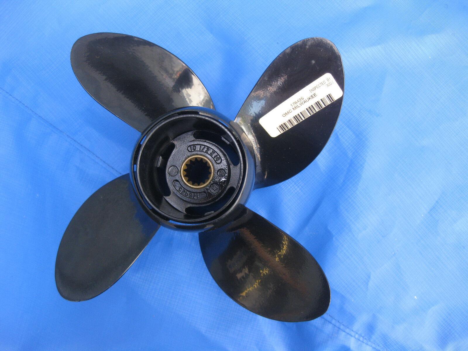 Propeller Johnson, ,4- Blatt, Originalteil, 10,5x14, für Johnson, Propeller Evinrude 20,25,30,35 Ps 784b79