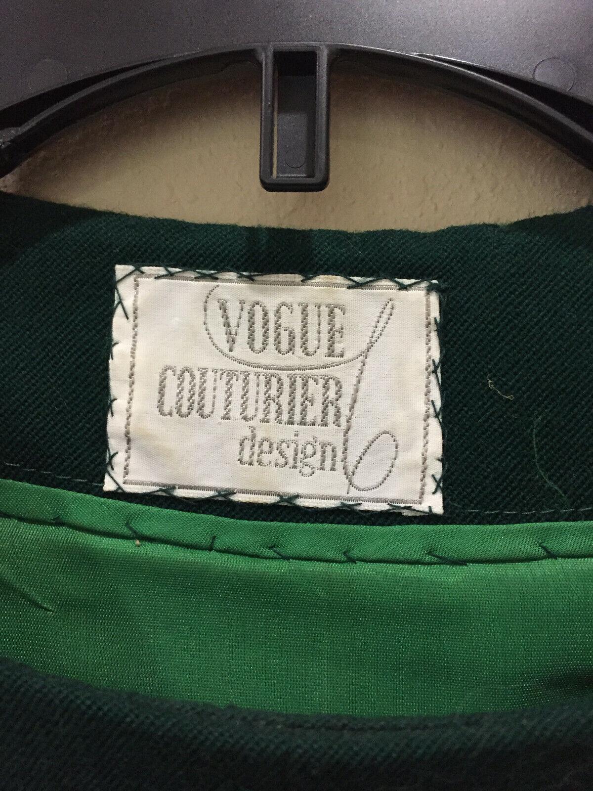 Vintage Vogue Couturier Design Wool Dress Small D… - image 4