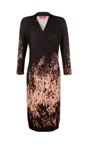46 Print 44 Schwarz Gr 40 48 0116086058 50 Top Kleid Marke 42 rose Wickel nqxvC