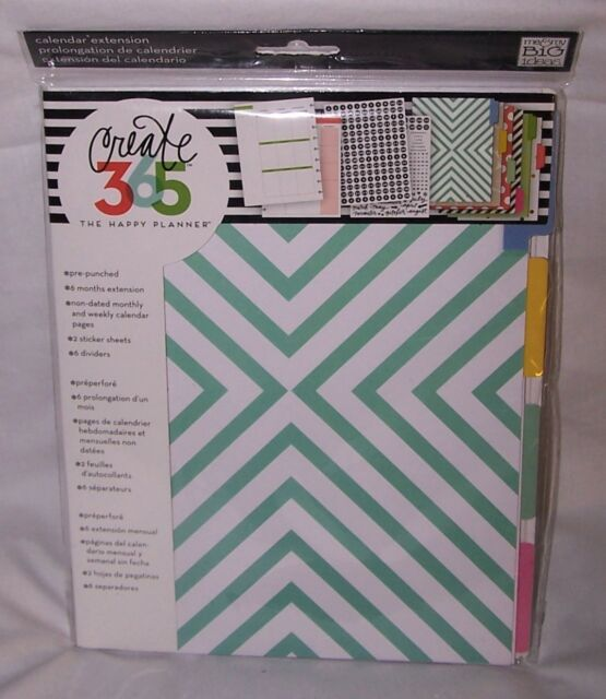 """NEW MAMBI Create 365 The Happy Planner """"Six Month"""" Extension Pack"""