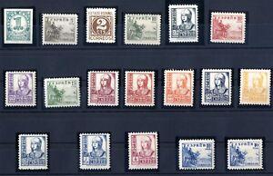 Sellos-Espana-1937-1940-n-814-831-Cifras-Cid-certificado-stamps-Spain-ref-A1