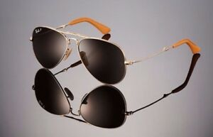 c6039de8a5 Image is loading LTD-EDN-RAYBAN-22KT-GOLD-PLATED-Folding-AVIATOR-