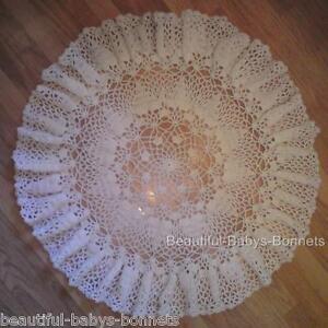CROCHET PATTERN for Babys Christening Shawl Circular Lace ...