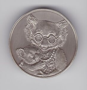 Koala-Silver-Medallion-can-be-engraved-out-Baby-Proof-Set-2000-Australia-43-2-gr