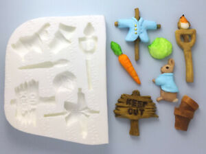 Silicone-Mould-Beatrix-Potter-Peter-Rabbit-Inspired-Garden-Bunny-Easter-M167