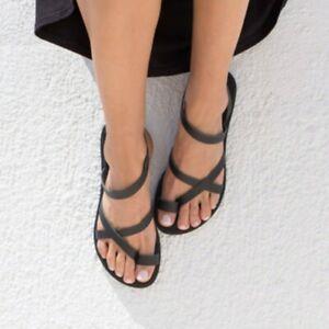 Boho-Women-Clip-Toe-Sandals-Summer-Flats-Beach-Thong-Shoes-Slippers-Comfort-New