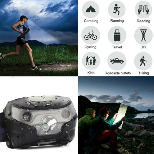 Portable LED Headlamp Waterproof Bright Headlight for Reading Camping Hiking