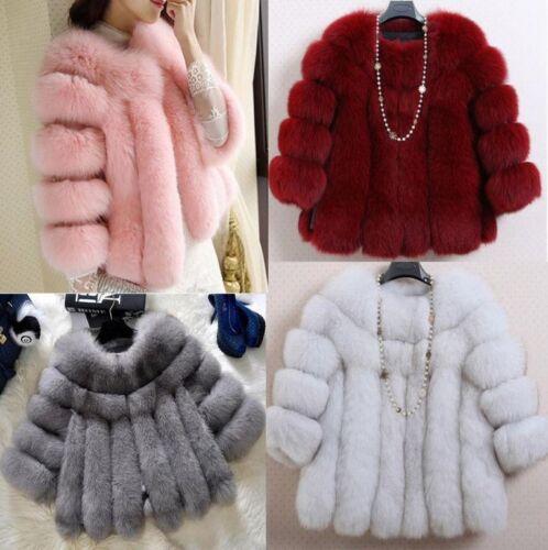 pels jakker solid outwear korte frakke farver kvinders faux d656 luksus 12 varm pAq4OIwn