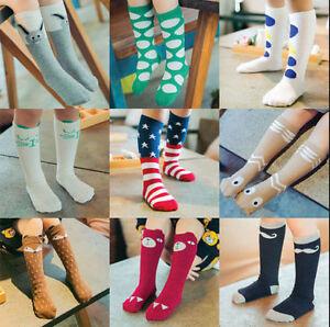 for Age 4-6 Baby Kids Toddlers Girls Knee High Socks Tights Leg Warmer Stockings Grey Egg