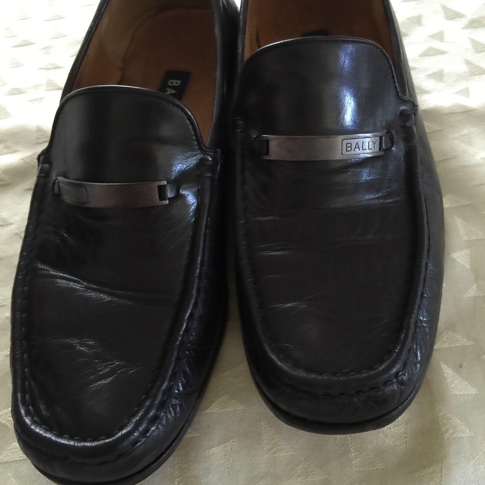 BALLY BROWN RARE  leather SHOE Mens Size 11.5 US Made in ITALY