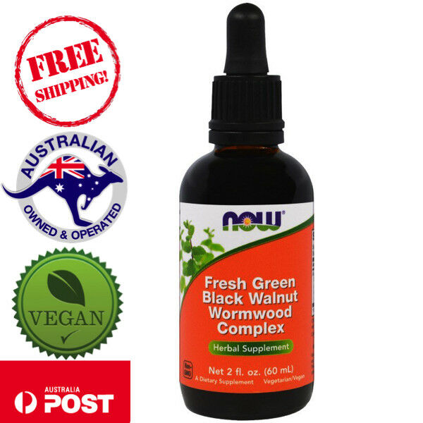 Now Foods Fresh Green Black Walnut Wormwood Vegan Complex 2 fl oz (60 ml)