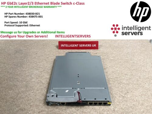 HP GbE2c Layer2//3 Ethernet Blade Switch c-Class 438475-001 438030-B21